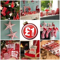 Nordic/Scandinavian look and feel Christmas decorations from Poundland, who said Christmas has to break the bank?