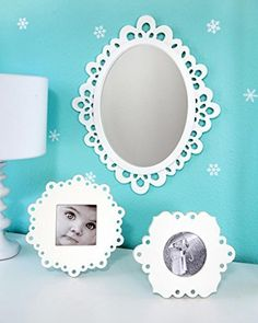 Wood Lace Wall Mirror with Two Lace Table Frames Set, http://www.amazon.com/dp/B00NK0HQ04/ref=cm_sw_r_pi_awdm_3wFtub0W6G800