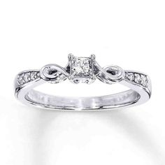 50c294f1f Cheap Diamond Promise Rings For Her - Wedding and Bridal Inspiration