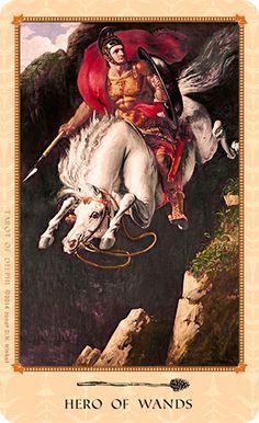 Tarot of Delphi -- Hero of Wands If you love Tarot, visit me at www.WhiteRabbitTarot.com