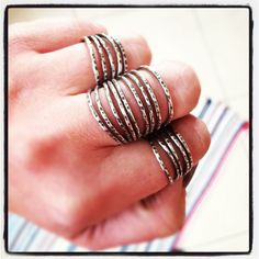 Cinco lineas rings....great for stacking and oh so comfortable! $58   www.clairesommersbuck.com