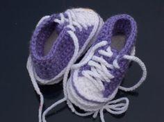 crochet converse baby booties- free pattern