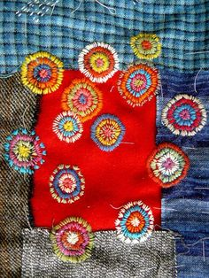 embroidered patchwork, up cycle clothing and customise with a beautiful embroidery