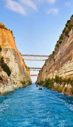 Corinth Canal, Greece. http://www.mediteranique.com/hotels-greece/