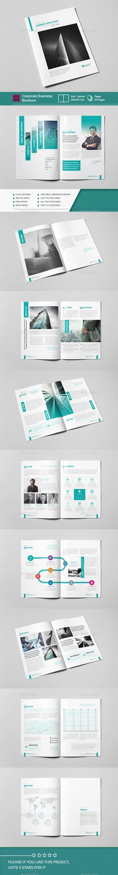 Corporate Business Brochure 20 Pages A4