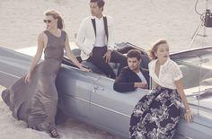 #HouseofFraser #SS16 Zhanna Brass, Dae Na, Franky Cammarata, June Downs shot by Jon Gorrigan #prom #style #beach #summer #miami