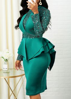 Dresses For Women Elegant Dresses Classy, Elegant Dresses For Women, Classy Dress, Sexy Dresses, Latest African Fashion Dresses, African Dresses For Women, African Attire, Turquoise Dress Outfit, Classy Work Outfits