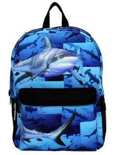 """Shark Tank"" Backpack by Mojo Backpacks #inkedshop #shark #sea #ocean #bookbag…"