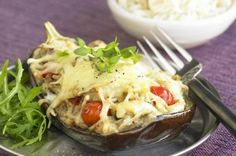 Roast aubergine with cheese Another great vegetarian cheese recipe, this time using aubergine. This vegetable tastes great and lowers your cholesterol, so there's no excuse not to give this recipe a go!
