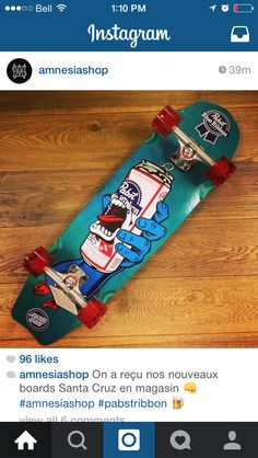 Santa Cruz board pabst blue ribbon