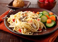 Diabetic Chicken Tetrazzini-This is a Diabetic recipe AND also calculates as a Weight Watchers 9 PointsPlus+ recipe!