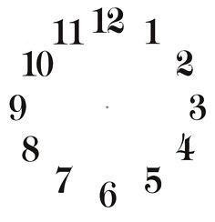 APRENDO E PASSO: fundos para criação de relógios