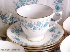 """hyacinth's china pattern, described as """"royal doulton with the"""