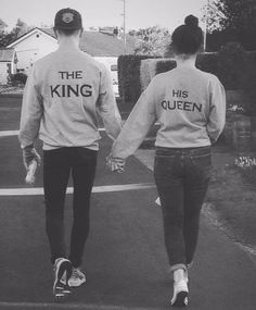 The King His Queen T Shirt Boyfriend Girlfriend Gift Wifey Hubby Couple UK Stock Cute Couple Hoodies, Couple Tees, Matching Couple Outfits, Matching Couples, King Y Queen, Two Piece Pants Set, Valentines Day Couple, Queen Photos, Queen Outfit