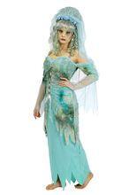Wasser-Fee Damenkostüm Nixe blau-grau, aus unserer Kategorie Märchenkostüme. Wasser-Feen sind höchst selten und nur in wenigen magischen Quellen im Märchenwald heimisch. Wenn man eine trifft, sollte man direkt einen Wunsch äußern - die Wasser-Nixe erfüllt ihn garantiert! Ein ausgefallenes Kostüm für Karneval und Märchen Mottopartys.