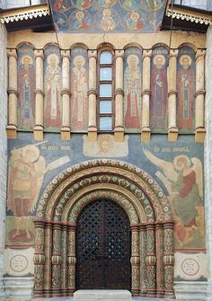 Northern door of The Cathedral of the Dormition in the Moscow Kremlin.