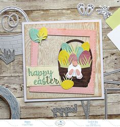A Happy Easter card with Joset Designs