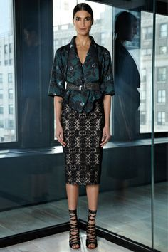 Rachel Roy. Batik inspired cropped jacket. Pre-Fall 2013