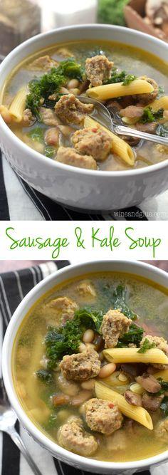 This Sausage and Kale Soup is a family favorite that we eat a few times a month. Packed with protein and veggies, this one pot wonder is done in under 30 minutes and loved by even my picky eaters!