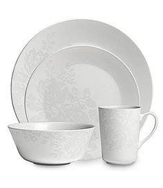 "Monique Lhuillier Waterford ""Bliss"" Grey Dinnerware   Dillards.com"