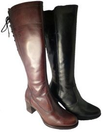 Leather high boots by Nero Giardini