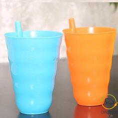 Nouveauté plastique Space Design Tasse avec paille cadeau pour garçons