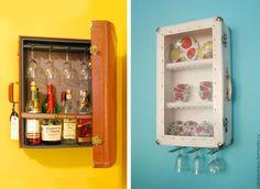 Armadietto creato con il riciclo delle valigie vintage #DIY #suitcase #vintage