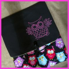 I am in love with this sassy hot pink owl! He's strutting his stuff on one of our full sized tablet sleeves. Check out the details here: https://www.etsy.com/listing/184082274/owl-ipad-kindle-fire-10-tablet-sleeve?ref=shop_home_active_2