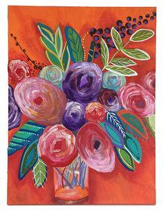 Abstract Flowers, Abstract Art, Multimedia Arts, Acrylic Art, Zero, Canvas Art, Number, Fine Art, Painting
