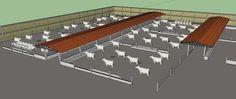 Este archivo contiene un modelo de corrales ganaderos; con distribuciones y medidas de estos; con una capacidad para 400 cabezas de ganado. Tambien contienen renders de la propuesta ya terminada de los corrales ganaderos.