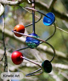 Red Flower Spinner Kinetic Sculpture Art Garden Stake   Gardens ...