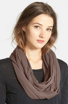 $26, Slub Jersey Infinity Scarf by Halogen. Sold by Nordstrom. Click for more info: http://lookastic.com/women/shop_items/134708/redirect