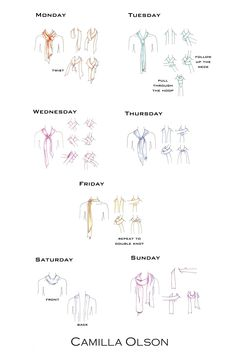 How to: A different scarf tie for every day of the week. ALady. .How to tie a Camilla Olson scarf!
