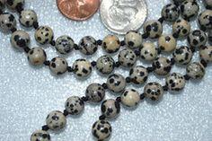Dalmatian Jasper Prayer Beads Hand Knotted Japa Mala Necklace Karma Ni – AwakenYourKundalini
