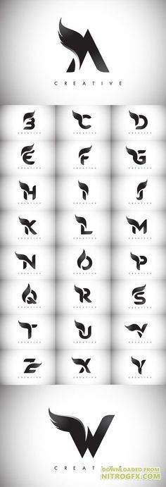 Vector Letter Wings Logos Design with Black Bird Fly Wing Icon - Vanessa Tabut . - Worldwomanandme - - Vector Letter Wings Logos Design with Black Bird Fly Wing Icon - Vanessa Tabut . Web Design, Bird Design, Icon Design, Wings Design, Design Styles, Make Design, Lettering Design, Branding Design, Vector Logo Design