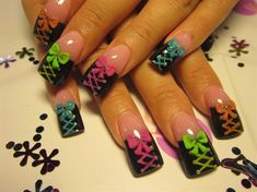 neon corsets by Oli123 - Nail Art Gallery nailartgallery.nailsmag.com by Nails Magazine www.nailsmag.com #nailart