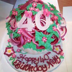 Rose Flower Garden Cupcake