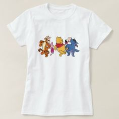Shop Winnie the Pooh Crew T-Shirt created by winniethepooh. Aesthetic T Shirts, Aesthetic Clothes, Winnie The Pooh Friends, Disney Shirts, Wardrobe Staples, Colorful Shirts, Shirt Designs, Casual, How To Wear