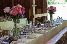 Hudson Valley NY - Country Setting Hudson Valley, Table Settings, Table Decorations, Country, Party, Furniture, Home Decor, Homemade Home Decor, Rural Area