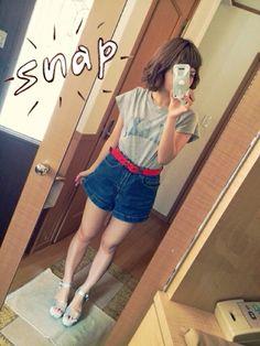 Tシャツの合わせ方アイデア♡ショートパンツで元気な印象!
