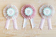 Celebrate Today Paper Rosettes