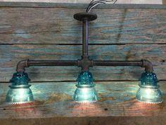 Triple Glass Insulator Kitchen Sink Light by luceantica on Etsy