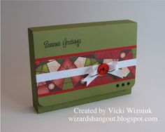 Clutch Style Card Box Holder * Wizard's Hangout: My Templates to Share