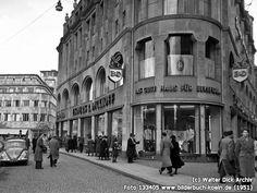 Eckhaus an der Schildergasse, In der Höhle (1951) Eckhaus, Cologne Germany, Street View, History, Live, Postwar, Period Story, Historical Photos, Rheinland