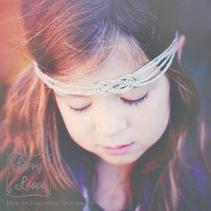 Boho Headband (Twine Sailor Knot) on a Girl by Livvy Loops