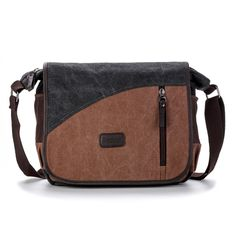 6d4a71df9e21 Men's Canvas Leisure Crossbody Bag Casual Shoulder Bag Worldwide delivery.  Original best quality product for
