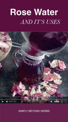 Discover revitalizing rose water benefits its uses in cosmetic and in other areas DIY video and easy steps how to make your own rose water. The post Revitalizing Rose Water appeared first on Diy. Homemade Skin Care, Homemade Beauty Products, Diy Skin Care, Homemade Facials, Natural Products, Beauty Care, Diy Beauty, Beauty Hacks, Making Rose Water