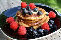 A Pretty Patriotic Paleo Pancake Party Paleo Breakfast, Breakfast Recipes, Breakfast Pancakes, Breakfast Club, Dairy Free Recipes, Paleo Recipes, Gluten Free, Paleo Pancakes, Oatmeal Pancakes
