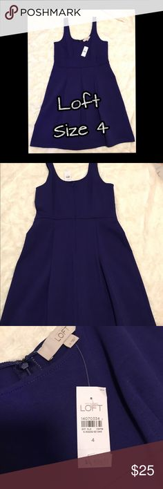 NWT Loft Fit and Flare Purple Dress new w/tags Never worn and still has original tags! It is the perfect dress to add a cardigan over for work, or add a great pair of heels and a statement necklace for a night out. LOFT Dresses