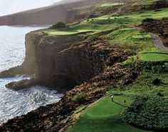 H'Moon-- Lanai trip.  J will be in heaven playing a round of golf here on one of the most beautiful courses in the world.